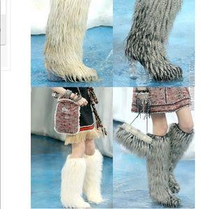 566a90c90c6 Chanel Mongolian fur boots